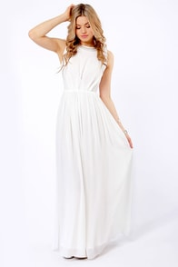 Take My Hand Ivory Beaded Maxi Dress at Lulus.com!