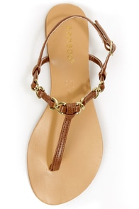 Bamboo Macalen 04 Chestnut T-Strap Thong Sandals at Lulus.com!