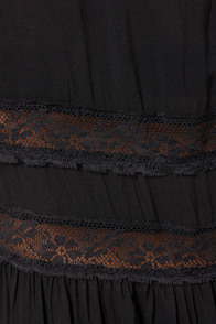 Cross-Country Cutie Black Lace Dress at Lulus.com!