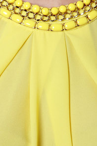 Midnight Chain Yellow Top at Lulus.com!