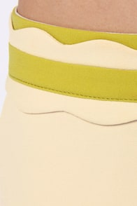 Wave Your Rights Scalloped Beige Shorts at Lulus.com!