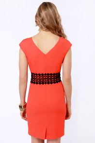 Darling Adelaide Coral Red Dress at Lulus.com!