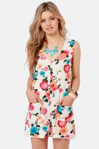 Lost Doddy Floral Print Shift Dress