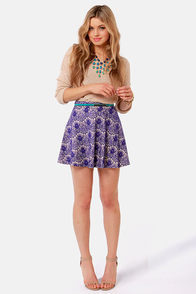 Crank Up the Lace Blue Lace Skirt at Lulus.com!