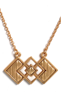 Days of Deco Gold Necklace at Lulus.com!