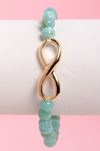 The Neverending Story Turquoise Bead Bracelet at Lulus.com!