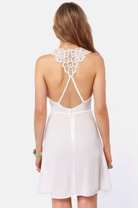 Your Doily Horoscope Crocheted Ivory Dress at Lulus.com!