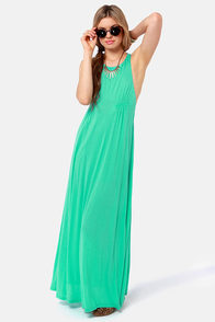 Walk the Walk Teal Maxi Dress at Lulus.com!