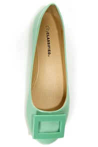 City Classified Hera Mint Patent Toe-Buckle Ballet Flats at Lulus.com!
