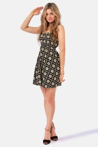 Quiksilver Sailing Helms Navy Blue Print Dress at Lulus.com!