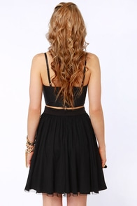 LULUS Exclusive Bow Pro Black Skater Skirt at Lulus.com!