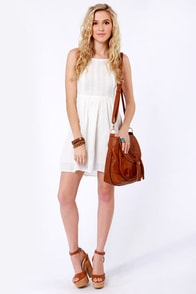 Roxy Perfect Days Ivory Sundress at Lulus.com!