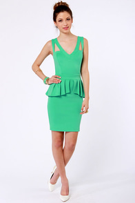 Steal the Show Mint Green Peplum Dress at Lulus.com!