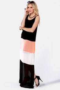 Favorite Flavor Color Block Maxi Dress at Lulus.com!