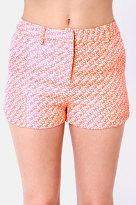 Desert Sunrise Pink and Cream Print Shorts at Lulus.com!