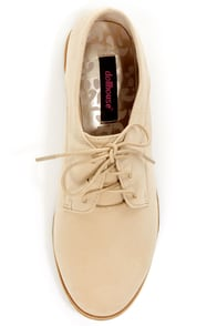 Dollhouse Finest Natural Lace-Up Oxfords at Lulus.com!