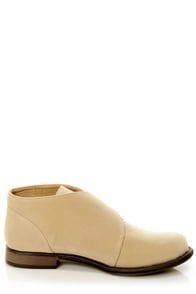 Dollhouse Junction Nude Buckled Chukka Boots at Lulus.com!
