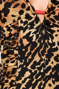 Mink Pink Zoe Ruched Leopard Print One Piece Swimsuit at Lulus.com!