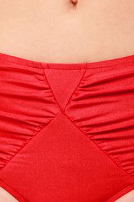 Mink Pink Chloe '50s Red Mid-Rise Bandeau Bikini at Lulus.com!