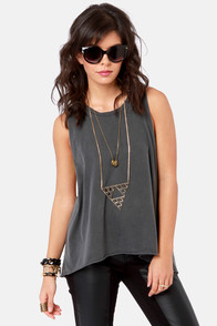 Obey Rider Washed Grey Muscle Tee