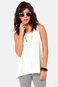 Obey Rider Off-White Muscle Tee at Lulus.com!