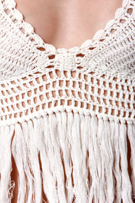 Cleobella Gypsy Beaches Crocheted Ivory Halter Top at Lulus.com!