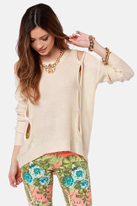Such Sweet Nothings Cream Sweater at Lulus.com!