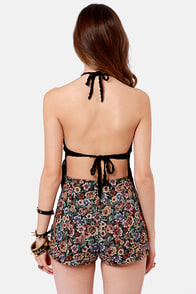 Cleobella Gypsy Beaches Crocheted Black Halter Top at Lulus.com!