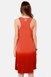 Rhythm To Die Rust Red Ombre Dress at Lulus.com!