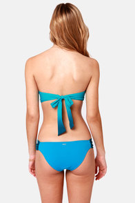 Rhythm Fadin' Out Blue Ombre Bustier Bikini at Lulus.com!