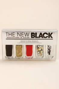 The New Black Rock 'n' Roll Royalty Nail Polish Set at Lulus.com!