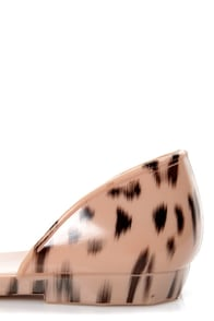 Fiebiger Cheetahfly Leopard Print D'Orsay Jelly Flats at Lulus.com!