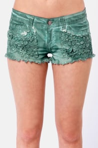 Black Sheep Grace Land Teal Shorts at Lulus.com!