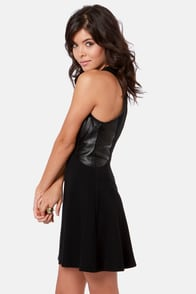 Fair-Leather Friend Black Vegan Leather Dress at Lulus.com!