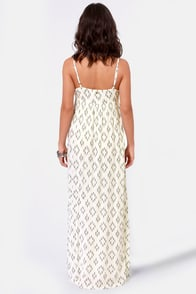O'Neill Lagoon Ivory Print Maxi Dress at Lulus.com!