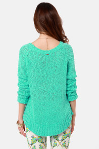 O'Neill Cape Town Sea Green Knit Sweater at Lulus.com!