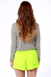 Short Circuit Neon Yellow Shorts at Lulus.com!