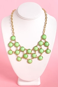 Stick Together Mint Green Statement Necklace