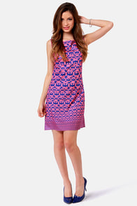 G's Louise Blue and Pink Print Dress at Lulus.com!