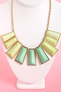 Dueling Pianos Gold Statement Necklace at Lulus.com!