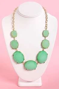 Lucy in the Sky Teal Statement Necklace