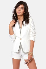 Interview with the Glam Hire Ivory Blazer