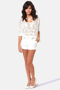 Trip to the Cape Ivory Shorts at Lulus.com!