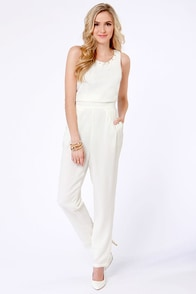 Variety is the Spikes Studded Ivory Jumpsuit at Lulus.com!