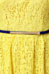Fun in the Sun Yellow Lace Dress at Lulus.com!