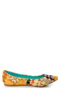 Blowfish Deja Saffron Tribal Ikat Print Pointed Flats at Lulus.com!