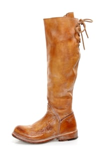 Bed Stu Manchester II Tan Rustic White Leather Riding Boots