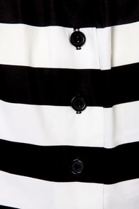 Expand Your Horizon-tal Striped Black and White Skirt at Lulus.com!