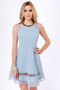 Fairest of Hem All Blue Dress at Lulus.com!