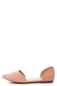 Dolley 03 Blush D'Orsay Pointed Flats